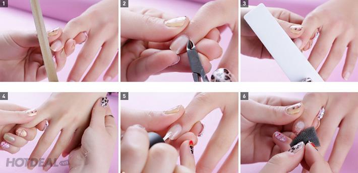 Image result for các bước làm nail