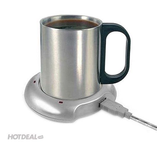 Đế Tạo Nhiệt USB Hâm Trà, Cafe Tiện Lợi Tại Bàn Làm Việc